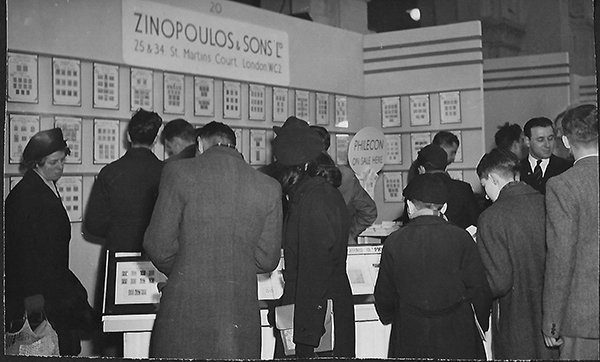 Zinopoulos & Son at stamp exhibition in early 1900's