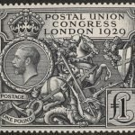 PUC 1£ postage stamp.