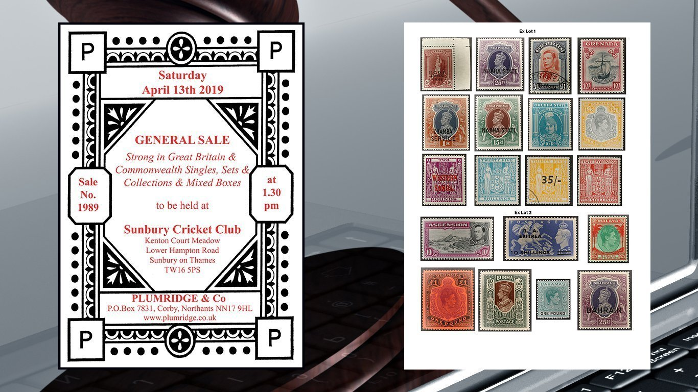 stamp auction general sale no.1989 catalogue