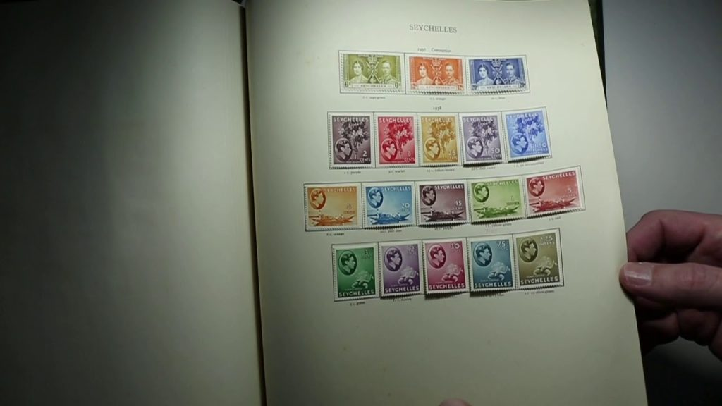 Video of a King George VI British Commonwealth Stamp collection from North Borneo to Zanzibar
