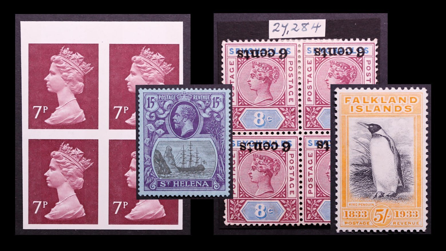 Featured stamps included in Sale No.1992